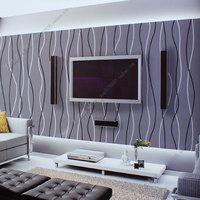 Modern stripe wallpaper tv background wall pvc jiezhuang wallpaper 53x1000cm xqw163