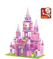 Sluban blocks pink princess dream castle 472pcs/set M38-B0152 Children's enlightenment educational assembly building blocks toys