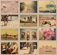 Freeshipping! vintage style postcard rhythm of life/Birthday Card/Greeting Card/Gift Card/Christmas card /Gift