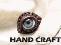 FREE shipping Blue eye cowhide ring original design handmade ring artificial eyeball ring