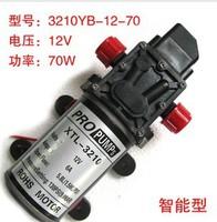 Free shipping 12V 70W micro diaphragm pump discharge pressure backflow 3201 thread water pump wash car