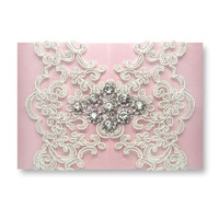 High-End ~Elegant Byzantinism Lace Wedding Invitations Card With Luxury Rhinestone ,Wedding Favors and Gifts