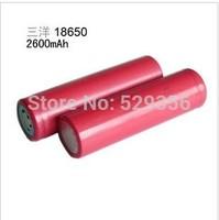 2PCS/LOT New 100% Original Sanyo 18650 2600mAh Li-ion Rechargeable Battery The Flashlight Btteries+Free shopping