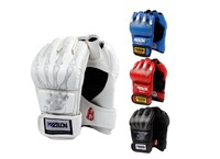 Hot Sale Half Finger Boxing Gloves Sanda Fists Fighting Sandbag Gloves Made of High Quality PU leather Free Shipping