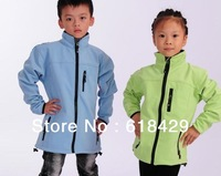 Free Shipping Boys and Girls Unisex outdoor kid softshell jacket (M104)