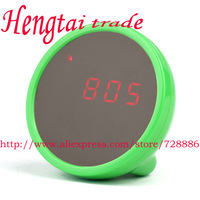 Free shipping, wholesale 10 PCS   Digital Beauty Mirror Alarm Clock with LCD Display  Magic beauty mirror