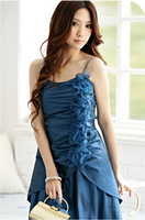 2013 New Fashion Plus Size Women  Prom Change Colors Satin Appliques Elasticity Bridesmaid Dresses Free Shipping Z118