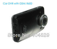 "Car DVR with GSM GPS G-sensor R600 3.0"" touch screen 1280*720 HD ambarella chip 110 degree wide angle lens"