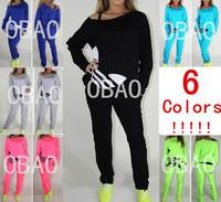 6 colors!!! advance booking!!!2013 autumn new style girl shampooers set, women shampooers set,sports set 3colors