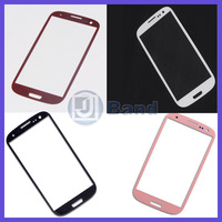 10pc/lot For Samsung Galaxy S3 SIII i9300 i535 L710 i747 T999 Black White Pink Red Touch Screen Outer Glass Lens Free Shipping