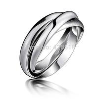 3 in 1 rings twisted Tungsten steel Men 's Women Wedding Band rings US size 5-9