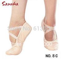 Sansha canvas ballet soft shoes stretchy elastics adult dance shoes slippers free shipping