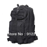 Free Shipping Fashion Black Military Rucksack Backpack Shoulder Bag for Travel Camping Hiking Outdoor #HW010