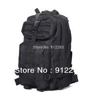 Free Shipping Fashion Black Military Rucksack Backpack Shoulder Bag for Travel Camping Hiking Outdoor #HW010