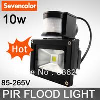 Dropship 10W 20W 30W 50W 70W New PIR Motion sensor LED FloodlightI nduction Sense lamp 85~265V10w led floodlight free shipping