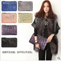 2014 New women summer wallet Fashion Style Sparkle Spangle clutch purse evening bags Ladies Handbag