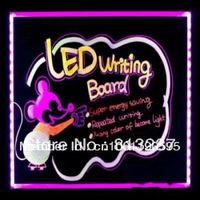 Free shipping colorful acrylic led menu Board for shops/restaurants/cafe advertising