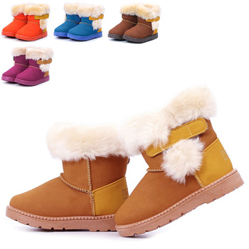 Childrens Boots Boys Girls Babys Kid Autumn winter Warm Snow Windproof Wedge Coffee Blue Khaki Orange Rmdred Sport Shoe Boot