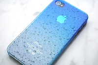 Clear Waterdrop Raindrop Hard Case Compatible with for Apple iPhone 4 4s