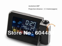 Freeshipping Cheap Digital LCD Screen LED Projector Alarm Clock Mini Desktop Multi-function Weather Station Dropshipping SL-5335