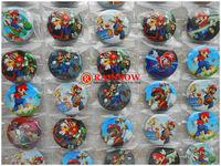Free Shipping!!Wholesale, New Arrival 48 pcs super mario badge, fashion pin badge,badge button 30mm
