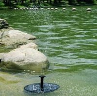 The New Arrival !! Solar Fountain Water Pump for Rockery Garden Fishing 8V  1.4W