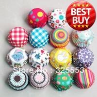 500pcs Mixed dot mini size paper cupcake liners baking cups cupcake decorations base 24mm