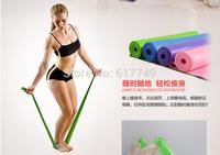 Hot Selling 2014  latex Training  yoga Fitness Equipment Spring Exerciser Hanging Belt Resistance Belt Set  Free Shipping