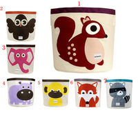 Reatail-7 designs storage bins for baby and kids/Modeling cartoon clear up box/Animal prints storage bag