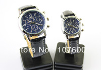 Free shipping PU belt fashion watches, couple watches one pair, gift table HL6033