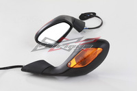 OEM Style Mirrors For Aprilia RSV 1000 2004-2008+ LED Turn Signals Light