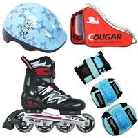 Adjustable skating shoes skating shoes roller skates child set