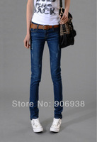 2014 New Arrival Women's Blue Casual OL Style Slim Pencil Denim Jeans/Boot Sport Pants,Free Shipping