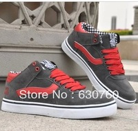 2013 hot Men's skateboarding shoes sports casual genuine leather skate shoes