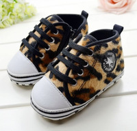 Free shipping (1 pair to sell) cotton baby sneakers ,baby first walker baby shoes leopard print