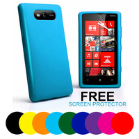 Soft Silicone Case Cover For Nokia Lumia 820 + Screen Protector