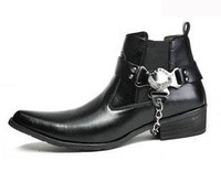 NEW !! COOL !!! 2013 punk pointed toe style british male boots