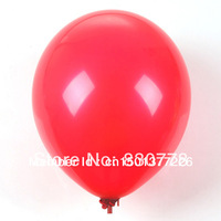 free shipping 2013 hot sale  Round Balloon Party Decoration essential matt 12 inch 3.2 grams red balloons