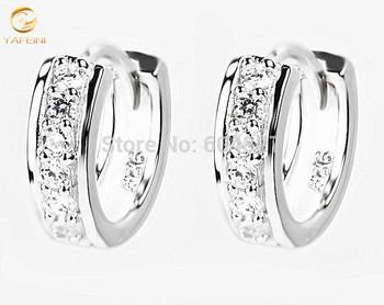 Бесплатная доставка - новый 925 стерлингового серебра серьги серебро стильный серьги стержня ювелирных изделий GNE0477