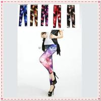 free shippingHot Chic New Womens Punk Galaxy Cosmic Space Sky Tie Dye Print Tights Pants  Dropshipping