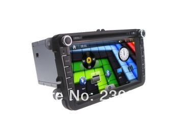 8 Inch Car DVD Player  For Volkswagen +IPOD+GPS+Radio+AUS+USB/SD+MP3/MP4