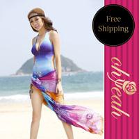 Sexy Chiffon Wrap Dress Sarong Beach Bikini Swimwear Cover Up Scarf Sarongs For Beach B020