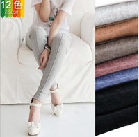 New 2014 Warm Cashmere Women Fashion Leggings Solid Color Middle Line Deisgn Slim Lady's Trousers Casual Daily Female Legging