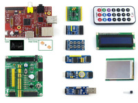 Raspberry Pi(CN)Model B 512MB+10 Accessory Modules Kits+LCD+DVK511 with I2C+SPI+8IO+UART+case H+heat sinks= RPi B (CN) Package B