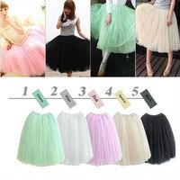 2014 New Women Princess Fairy Style 5 layered Tulle Bouffant Skirt Free Shipping W3136