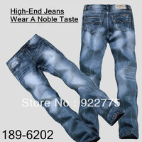 Size:29-40#189-7160,Free Shipping,2013 Fashion Brand High-End Cotton Men Jeans,Dark Color Ripped Whisker Straight Zipper Pants
