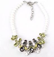EK thongprasert 2013 Fashion exquisite gem beads rhinestones crystal short necklace statement fashion chunky choker jewelry