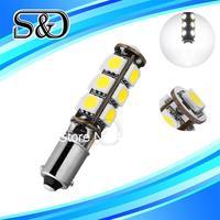S&D Brand BA9S 13 SMD Pure White CANBUS OBC No Error Interior Car T4W h6w 13 LED Light Bulb