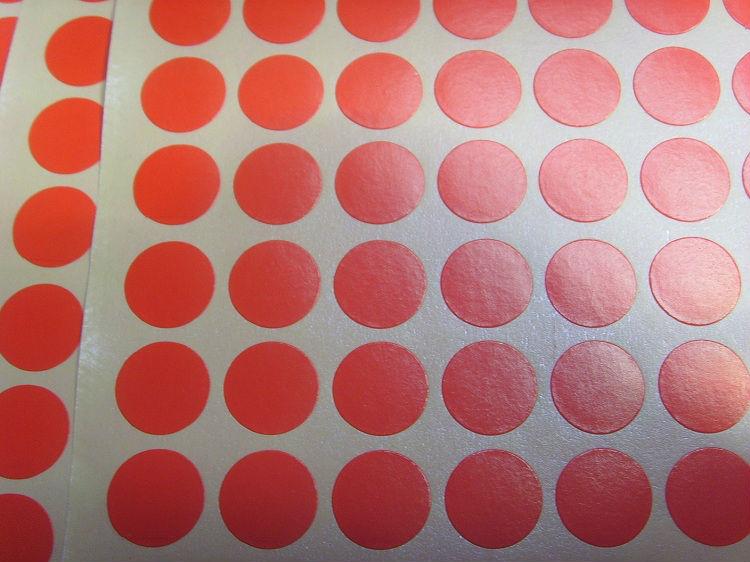 Etiquetas Redondas de Colores Color Etiquetas Redondas