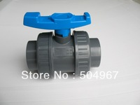 hot sale pvcu double union ball valve 1-1/4""